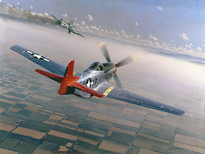 """""""Two Down, One to Go"""" William S. Phillips """"Lucky"""" Lester Tuskegee Airmen Canvas"""