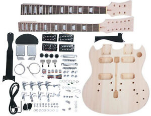 LUTHIER-SUPPLY-DOUBLE-NECK-ELECTRIC-GUITAR-BUILDER-KIT-MAKES-12-6-STRING-SG