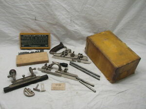 STANLEY-45-UNIVERSAL-COMBINATION-PLOW-PLANE-WOOD-WORKING-TOOL-IN-BOX-W-CUTTERS