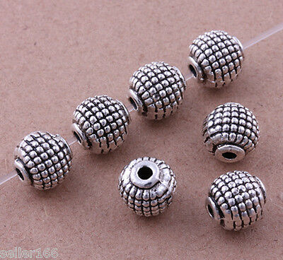 50 pcs Artful 8mm Tibet silver Beads spacer Charms Fun Jewelry making Findings