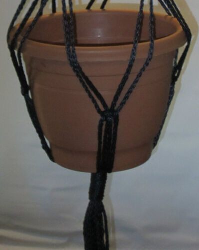 MACRAME PLANT HANGER 72 inch Vintage style Brown with Beads CHOOSE CORD COLOR