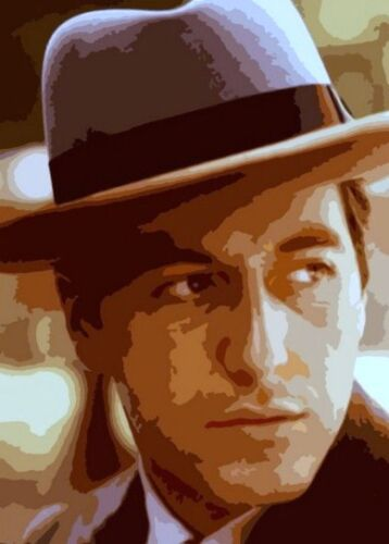 Godfather Corleone 28x16 Pop art style Oil Painting,NOT a print,framing avail,