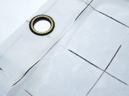 neu Ösengardine 1er-Pack 140x240 cm weiß gestreift oder kariert Gardine Vorhang