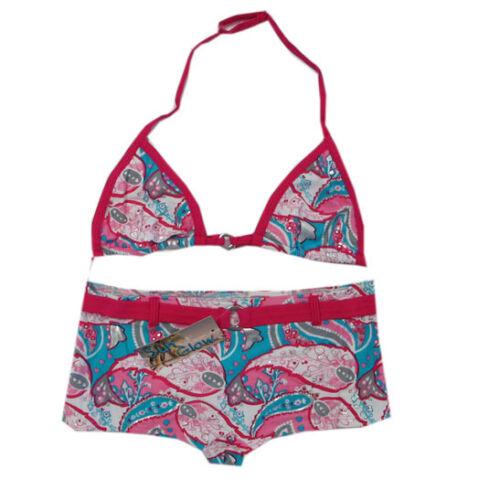 Teidem Bademoden Bikini Zweiteiler Pink Blau Mädchen Gr.140,152,164,176 NEU!!