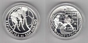 SAN-MARINO-RARE-SILVER-PROOF-10-COIN-2004-YEAR-KM-463-WORLD-BOX-COA