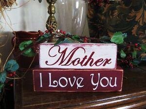 Primitive-Sign-Shelf-Blocks-Mother-I-Love-You-Mother-039-s-Day-Gift