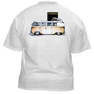 Kurbside-Kustoms-Trick-Tan-VeeDub-Bus-100-Cotton-Hot-Rod-T-Shirt-SS-344