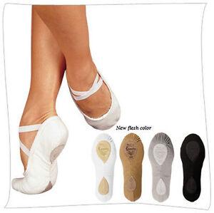 Sansha-Pro-1C-Womens-Ballet-Slippers-Shoes-Pink-Black-White-Sienna-Many-Sizes
