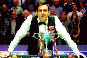 Ronnie-O-039-Sullivan-World-Snooker-Champion-SIGNED-12x8-Photo-AFTAL-COA-Autograph