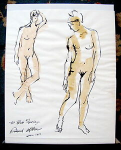 Fine-Art-Original-Ink-Drawing-Nude-Richad-McDermott-Miller-Signed