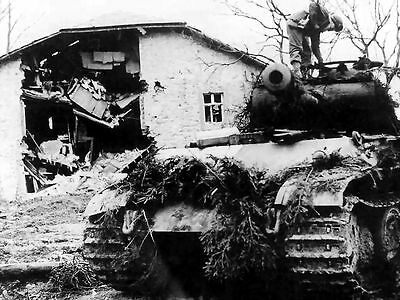 WWII Photo, Knocked Out Panther, Battle of Bulge WW2 World War Two Pzkpfw. V