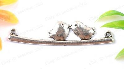 10pcs Tibetan Silver Bird Charms Connectors BE1593