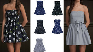 New-Hollister-Cali-Abercrombie-Women-039-s-Dresses-STRAPLESS-2012-Summer-Style