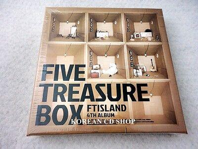 FTIsland (FT ISLAND) 4th - Five Treasure Box CD + POSTER (Option) + FREE GIFT