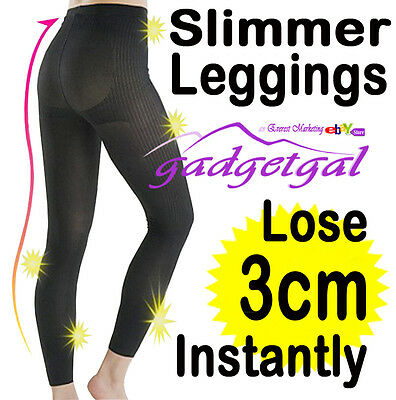 BODY SLIMMER LEGGINGS Slimming Shapewear Control (Waist, Butt, Legs, Cellulite!)