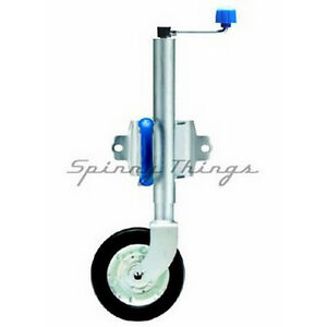 Swing-Up-Jockey-Wheel-8-BOLT-WELD-MOUNT-Caravan-Camper-Box-Boat-Trailer-Parts