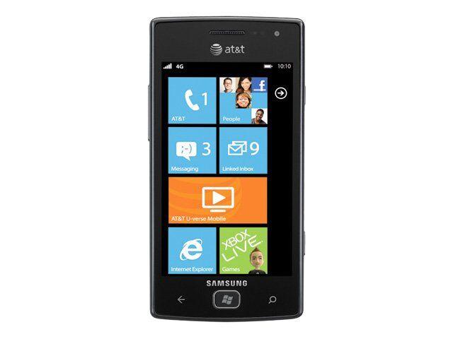 samsung focus flash sgh i677 8gb dark gray at t smartphone ebay rh ebay com Samsung Focus Battery Problem Samsung Focus Specs