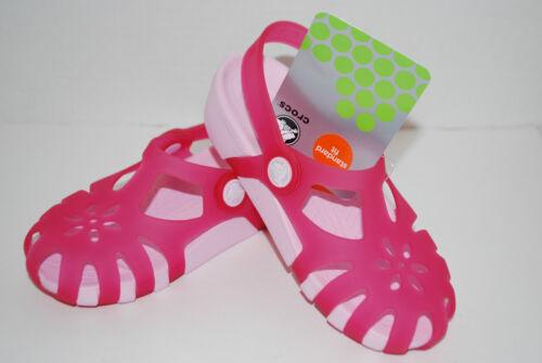 Neuf avec étiquettes Crocs Shirley Filles Jaune Orange Rose Violet 9 10 11 12 13 1 Chaussures Sandales