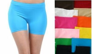 SEAMLESS-YOGA-SHORTS-SPANDEX-LEGGINGS-TIGHTS-FITS-S-M-L-LOTS-OF-COLORS