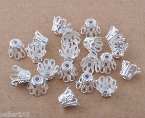 600-pcs-6mm-Silver-plated-little-flower-Loose-beads-caps-findings-charms