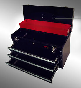 LARGE-3-DRAWER-TOOL-CHEST-TOOL-BOX-KEY-LOCK-US-Ball-Bearing-Slides