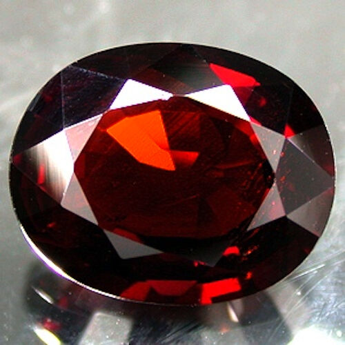 AAA Rated Oval Bright Orange Red Genuine (Natural) Mozambique Garnet (4x3-8x6mm)