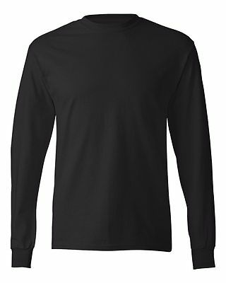 Hanes Brand NEW 6 oz. 100% Cotton Long Sleeve T-Shirt Mens S-3XL Tagless Tee