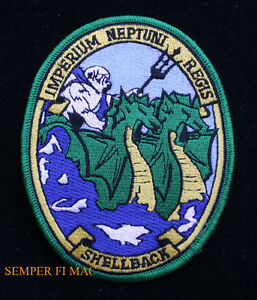 SHELLBACK-PATCH-USS-US-NAVY-EQUATOR-KING-NEPTUNE-COURT-MERMAID-IMPERIUM-NEPTUNI