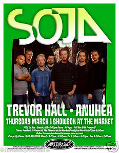 soja trevor hall anuhea 2012 seattle concert tour poster reggae ebay. Black Bedroom Furniture Sets. Home Design Ideas