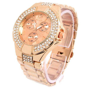 ROSE-GOLD-3D-GENEVA-DESIGNER-STYLE-CRYSTAL-BEZEL-WOMENS-WATCH
