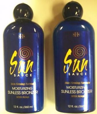Lot of 2 Sun Sauce Sunless Self Tanner w/ Bronzer & Hemp - NO TANNING NEEDED