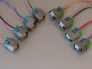 s l300 set of 8 ls2 ls3 ls7 corvette ev6 fuel injector wiring harness ls3 wiring harness and computer at fashall.co