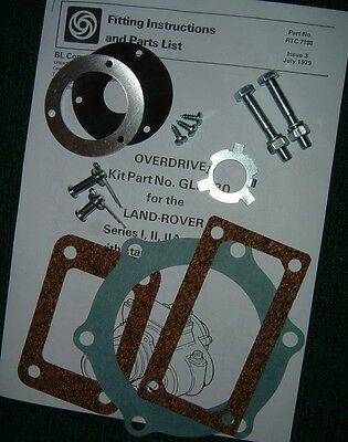 Fairey Overdrive Installation Kit for Land Rover SI-III