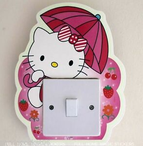 Image Is Loading Hello Kitty Light Switch Wall Stickers Glow In  Part 66