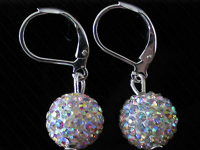 Shamballa AB Crystal Disco Ball Drop Fashionable Earrings CC134