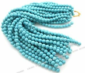 1-Strings-Loose-Gemstones-Turquoise-Beads-10mm-110110