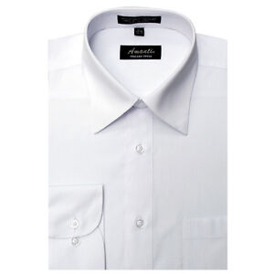 Mens dress shirt plain white modern fit wrinkle free Best wrinkle free dress shirts