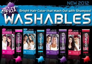 Splat-Washables-Hair-Dye-Hot-4-Pink-Totally-Red-Purple-Swag-Electric-Blue