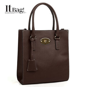 NWT-WOMENS-HANDBAG-Tote-shoulder-bag-Worldwide-Freeshipping-Dark-Brown