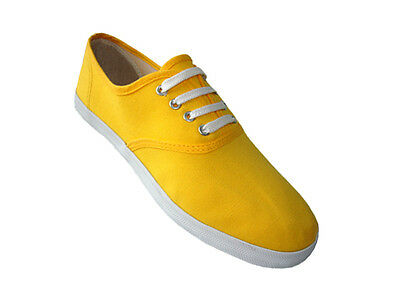 Womens Girls Canvas Plimsoll Shoes Sneakers Lace Up Sizes 5-10