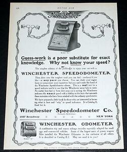 1907 Old Magazine Print Ad Winchester Motor Car