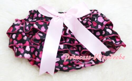 Hot Pink Sweet Heart Bloomer Pantie with Various Bows For Pettiskirt 6m-3Y