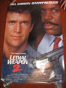 LETHAL-WEAPON-2-original-MOVIE-POSTER-ROLLED-1989-1980s-Mel-Gibson-cop