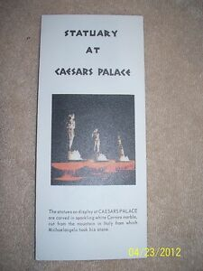 Caesars-Palace-Statuary-Carved-From-White-Carrara-Marble-Brochuer-Las-Vegas-Nv