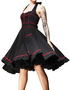 HELL-BUNNY-Vanity-Rockabilly-Goth-50s-Polka-Dot-Dress-Plus-Size-Psychobilly