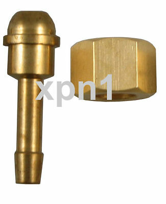 3/8 BSP RH Nut with 1/4 Tail for (Welding) Regulator or Flow Meter