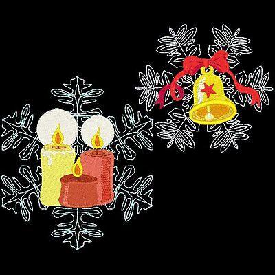 CHRISTMAS SNOWFLAKES - 20 MACHINE EMBROIDERY DESIGNS (AZEB)