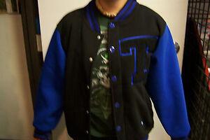 Blue-Varsity-Jacket-Texas-Letterman-H-Town-Classics-Polyester-Piranha-Records
