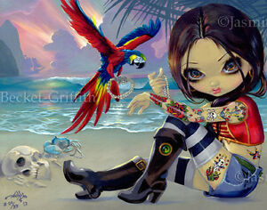 Bootstrap-Betsy-Jasmine-Becket-Griffith-CANVAS-PRINT-Pirate-Tattoo-lowbrow-art