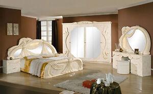 Komplett Schlafzimmer Set Klassische Italienische Stilmöbel Creme ...